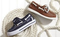 Nautica is synonymous with all-American style, and this smart collection of shoes for little boys showcases the brand's sporty aesthetic perfectly.    Classic styles like boat shoes are both preppy and fun, while chukkas and oxfords come in tan, navy and more.    With quality leather and durable souls, these shoes will have your little guy loving summer in comfort. Photo credit: MyHabit