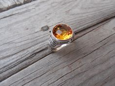 Beautiful Madeira citrine ring handmade in sterling silver by Billyrebs on Etsy