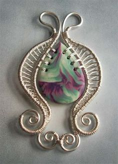 https://flic.kr/p/5BPw4r | Goccia | Handmade polymer clay and wire work alkhymeia.jimdo.com/