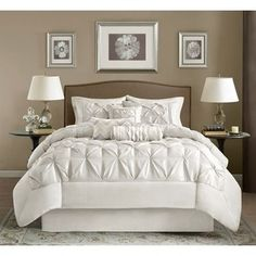 Shop for Madison Park Lafayette White 7-piece Comforter Set. Get free shipping at Overstock.com - Your Online Fashion Bedding Outlet Store! Get 5% in rewards with Club O!