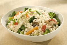 Asian-style Fried Rice Recipe with vegetable oil, regular or convert rice, water, Knorr Chicken Flavor Bouillon, stir fry vegetable blend, ground ginger, soy sauce