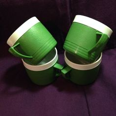 Vintage Green Bolero Thermoware Mugs by MainelyDiane on Etsy, $14.00