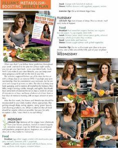 Jillian's Metabolism-Boosting Weekly Plan