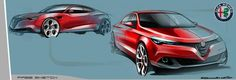 Alfa Romeo sedan sketch