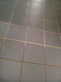 how to clean excess grout off tiles