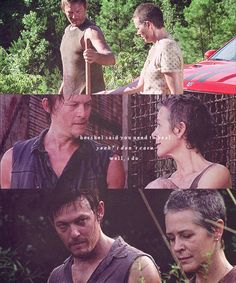 Daryl & Carol. Still so disappointed with Daryl's lack of reaction to Carol's exile