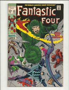 Fantastic Four No.83 - Marvel Comic Book Feb 1969