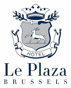 Logo design of 'Le Plaza Brussels' Hotel. Elegant, yet different than other logos in this range thanks to the banner. | Hotel logo | Logo design | Hospitality design | Hotel logo design | Creative logo | Hotel brand identity | Hotel branding | Hotel graphic design | Logo graphic design