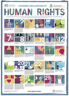 Universal Declaration of Human Rights: Poster - IHREC - Irish Human Rights and Equality Commission Human Rights Books, Human Rights Articles, History Of Human Rights, Human Rights Quotes, United Nations Human Rights, Declaration Of Human Rights, Human Rights Day, What Are Human Rights, Political Science