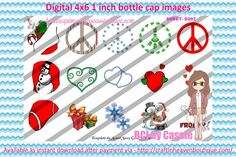 1' Bottle caps (4x6) Christmas mix D207 Christmas bottle cap images #Christmas # xmas #bottlecap #BCI #shrinkydinkimages #bowcenters #hairbows #bowmaking #ironon #printables #printyourself #digitaltransfer #doityourself #transfer #ribbongraphics #ribbon #shirtprint #tshirt #digitalart #diy #digital #graphicdesign please purchase via link  http://craftinheavenboutique.com/index.php?main_page=index&cPath=323_533_42_56