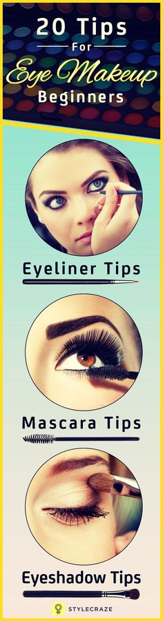 When taking baby steps towards makeup application, the first milestone we cross is that of eye makeup. Making mistakes is part of the learning process, and yet they can be easily avoided. Here are 20 simple eye makeup tips for beginners that will take you from being a starter to a star when it comes to eye makeup! Read on! #EyeMakeup