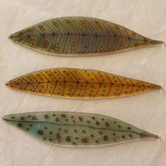 Fused glass feathers by Dianne McGhee www.groovyglass.com work in progress