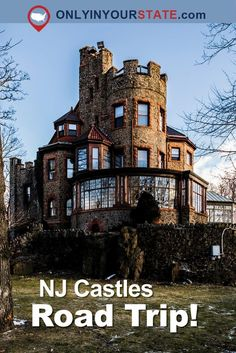This Road Trip To New Jersey's Most Majestic Castles Is Like Something From A Fairytale Us Travel Destinations, Places To Travel, Places To Go, Route 66 Road Trip, Road Trip Usa, Michigan Travel, Arizona Travel, Romantic Travel, Romantic Vacations