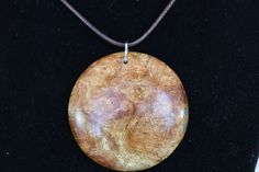 Maple burl pendant by TheKnottyTurner on Etsy