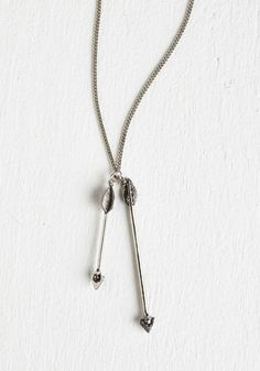 LOVE this necklace! just got it in the mail the other day.  Perfect length :) Hits the Mark Necklace.  #silver #modcloth