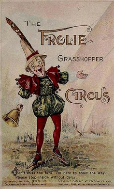 Vintage circus poster.