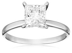 IGI Certified 18k White Gold Classic Princess-Cut Diamond Engagement Ring (2.0 cttw, H-I Color, SI1-SI2 Clarity) | RIngs ---------- Beautiful, Elegant Diamond Ring for Engagement and Wedding