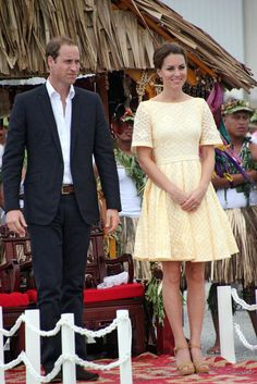Kate Middleton and Prince William arrived in Tuvalu.