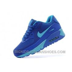 size 40 6aec1 f1da3 Newest Nike Air Max 90 Kids Shoes Children Sneakers Online Store Blue  Discount