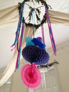 If its light, you can hang it from the centre of the ballroom ceiling - classic or lovely and tacky
