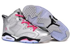 "new styles 330db f60ac Air Jordan 6 (VI) Retro ""Valentines Day"" Metallic Silver Vivid Pink-Black  For Sale 2014, Price   94.00 - Nike Rift Shoes"