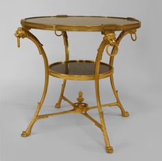 French Empire table end table bronze