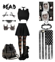 """It's not emo... It's style"" by x-2manybands-x ❤ liked on Polyvore featuring Hot Topic, Casetify, Axel and Tylie Malibu"
