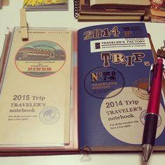 #travelersnote#travelersnotebook #midoritravelersnotebook#travelerschallenge#トラベラーズノート#手帳 ウィークリー。もちろん2015年もトラベラーズノートを相棒に。