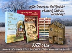 Here's a great giveaway to coincide with the new launch of Little House on the Prairie Andover fabrics.