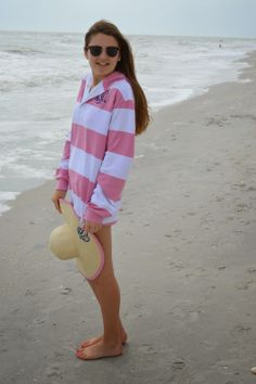 A Perfectly Preppy Beach Coverup