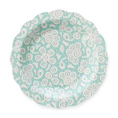 MarthaCelebrations™ Scalloped Paper Cocktail Plates – Turquoise - jcpenney