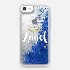 Casetify iPhone 7 Liquid Glitter Case - Angel by Emanuela Carratoni #iphoneaccessories,