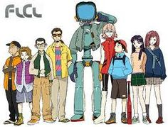 FLCL, Fooly Cooly, Furi Kiri - Call it what you want! It makes no difference wh. Flcl Characters, Fictional Characters, Furi Kuri, Character Art, Character Design, Little Busters, Black And White Comics, Roller Coaster Ride, Graphic Design Illustration
