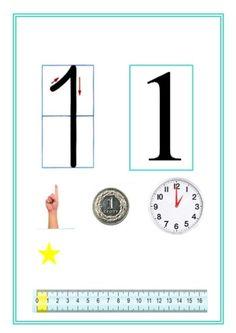Monografia liczb School Frame, Numeracy, Teaching Math, Preschool Activities, Kids Learning, Montessori, Crafts For Kids, Classroom, Letters