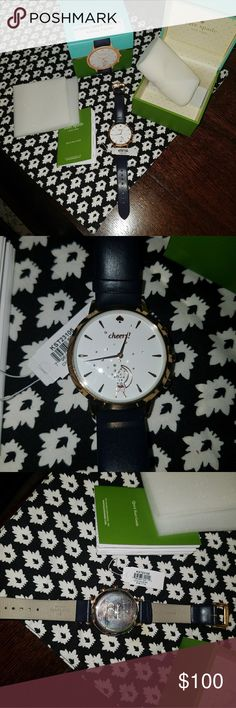 Kate spade watch Authentic Kate spade Hybrid smartwatch, activity tracker, used twice, like new condition, will come with box, no scratches, has the plastic on the back. It doesnt have seconds and I need this function for work, otherwise I would keep. Tracks your sleep time, activity and other nice functions. kate spade Accessories Watches