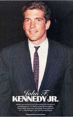 John F. Kennedy Jr. (Handsome Lad!