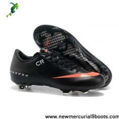 buy online 50279 45d24 2014 black orange soccer shoes Nike Mercurial Vapor IX FG 2013 cristiano  ronaldo Sixth CR exclusive personal Football Shoes Shop