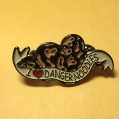 New I love danger noodles enamel pins are here! #ballpython #enamelpin #kickstarterrewards