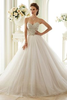 "Wedding gown by Sophia Tolli for Mon Cheri (Style ""Novella"")"