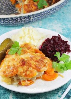 Food Hacks, Lasagna, Cauliflower, Mashed Potatoes, Pork, Eggs, Menu, Healthy Recipes, Vegetables