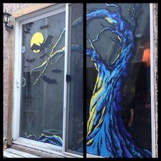 Best window painting mural halloween Google Search