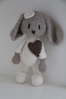 Hæklet kanin, skriv for mønster