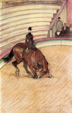 At the Circus Dressage - Henri de Toulouse-Lautrec