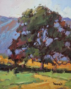 cathleen rehfeld • Daily Painting: Mountains Peeking Through