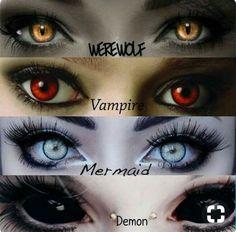 Werewolf Vampire Mermaid Demon for Horror movie Foto Fantasy, Fantasy Art, Fantasy Makeup, Maquillage Halloween, Halloween Makeup, Halloween Ideas, Regard Animal, Eye Art, Shadow Hunters