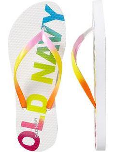 Old navy flip flops always provide a POP ::: Old Navy Flip Flops are the BEST! (: