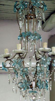 turquoise / aqua chandelier...swoon!
