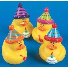 Birthday rubber ducks