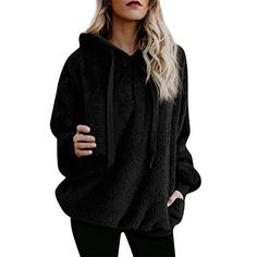 0d6f3353f7b iraly Pullovers For Women Plus Size Ladies Warm Fluffy Winter Top Hoodie  Sweatshirt Hooded Pullover Jumper    You can find out more details at the  link of ...