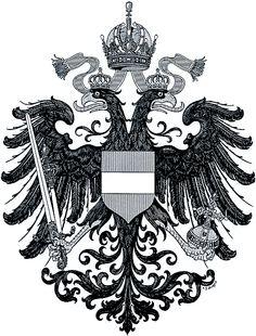 Empire of Austria-Hungary, small coat of arms of the Austrian Countries, 1915-1918, Hugo Gerhard Ströhl.